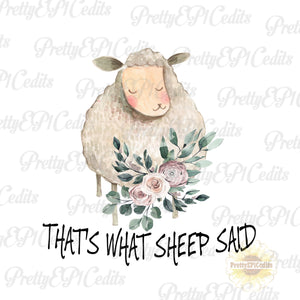 sheep said, digital download,clip art, PNG