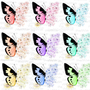 9 File Bundle Special, butterfly with flowers,  (Limited Time)