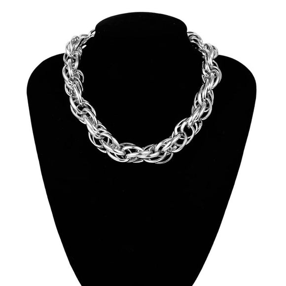 High Quality Punk Lock Choker Necklace Pendant