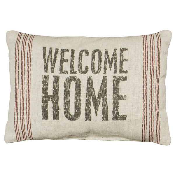Rustic Welcome Home Accent Pillow