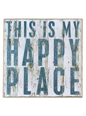 "Rustic Wall Decor ""This is my Happy Place"""
