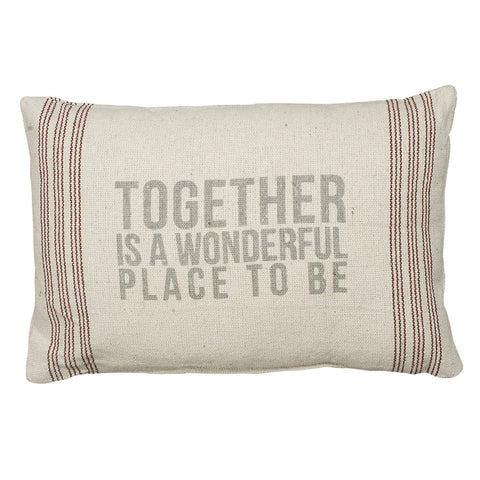 Rustic Together Accent Pillow
