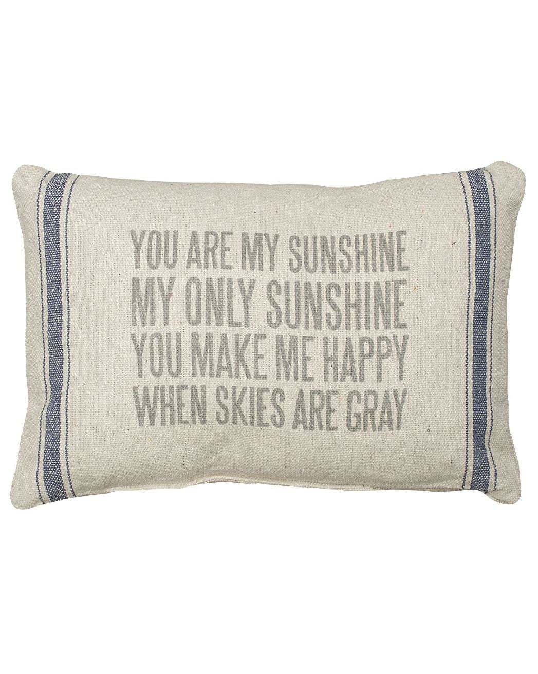 Rustic You Are My Sunshine Pillow