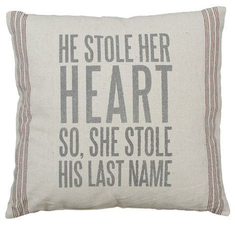 Rustic Last Name Accent Pillow