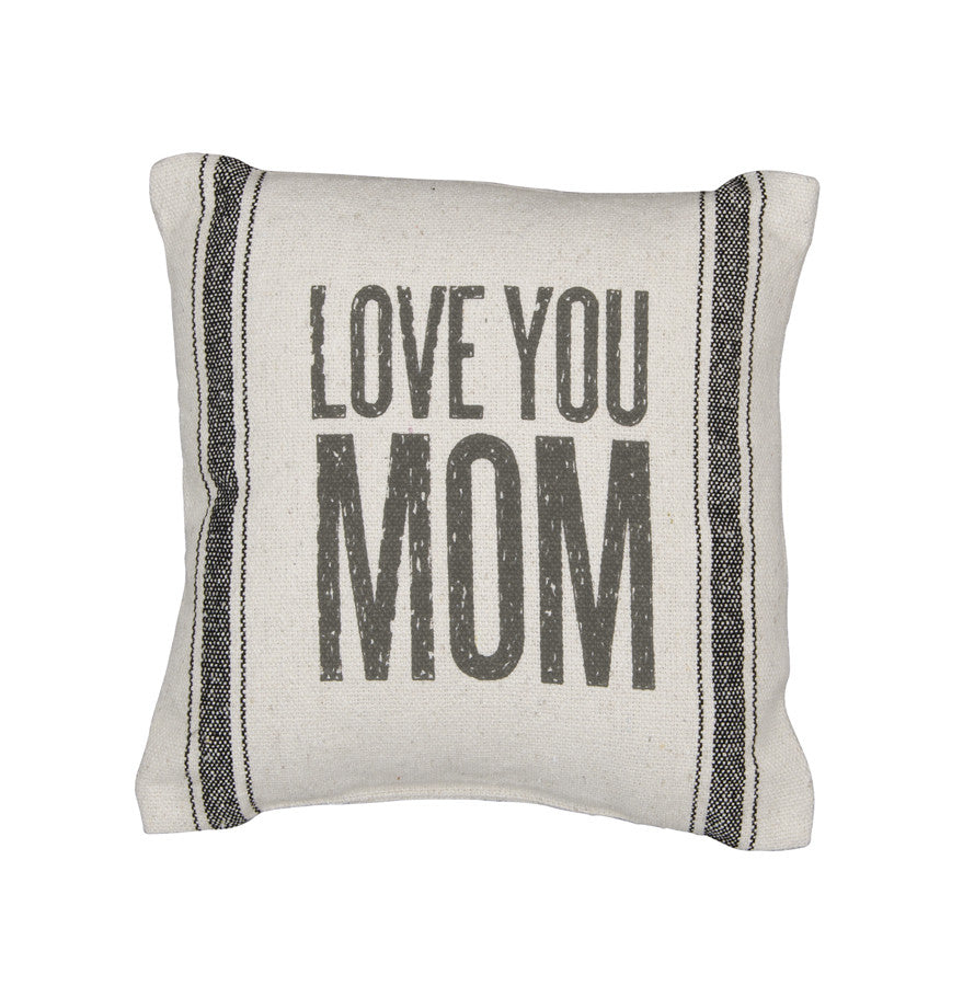 Rustic Love You Mom Accent Pillow