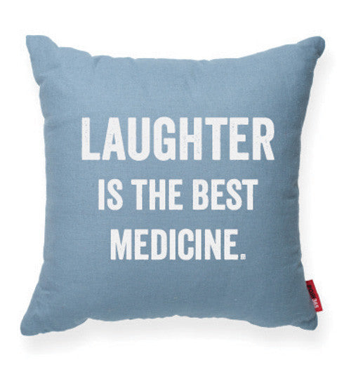 """Laughter Is The Best Medicine"" Decorative Throw Pillow"