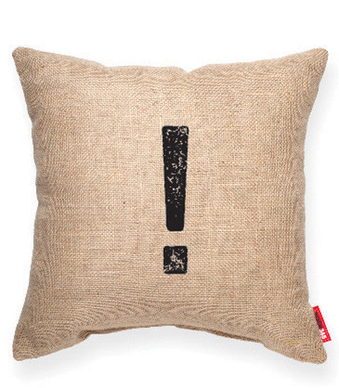 "Decorative Throw Pillow ""Exclamation Mark"""