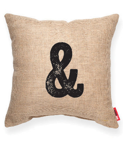 """Modern Ampersand"" Decorative Throw Pillow"