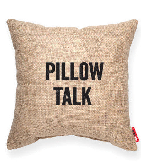 """Pillow Talk"" Decorative Throw Pillow"