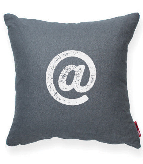 """At Symbol"" Decorative Throw Pillow"