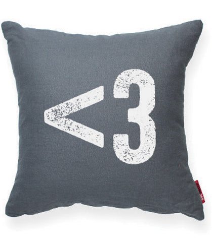 """Heart Symbol"" Decorative Throw Pillow"