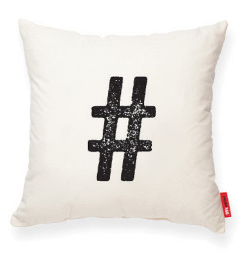 """Hashtag"" Decorative Throw Pillow"