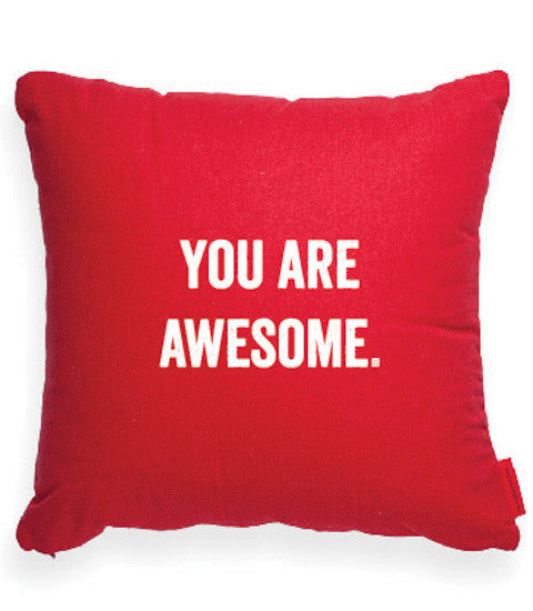 """You Are Awesome"" Decorative Throw Pillow"