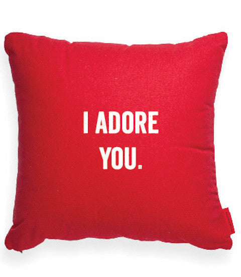 """I Adore You"" Decorative Throw Pillow"