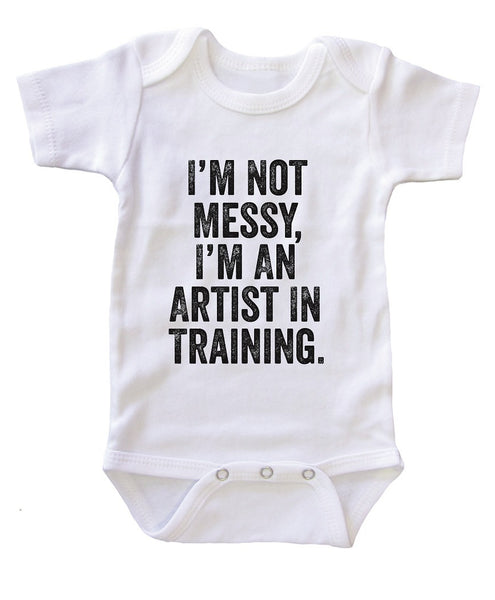 """I  am an Artist in Training"" Baby Onesie Bodysuit"