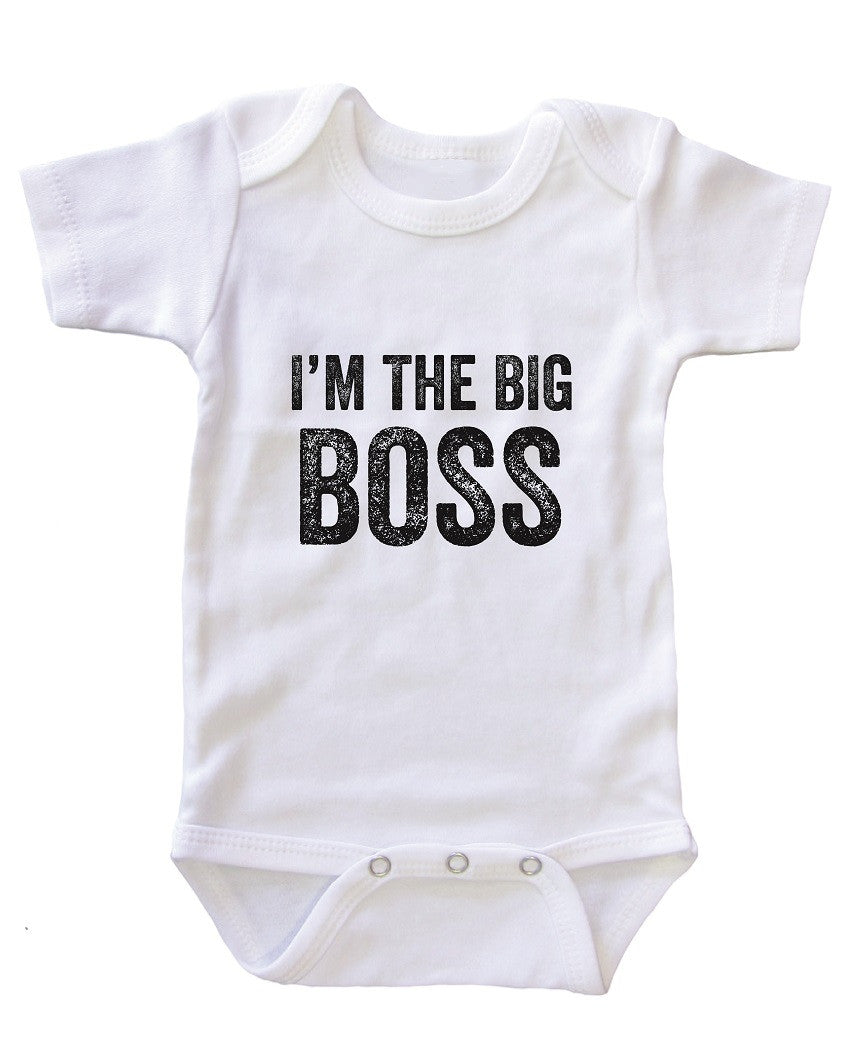 """I'm the Big Boss"" Baby Onesie Bodysuit"