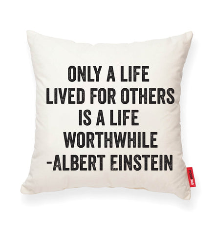 """Einstein"" Decorative Throw Pillow"