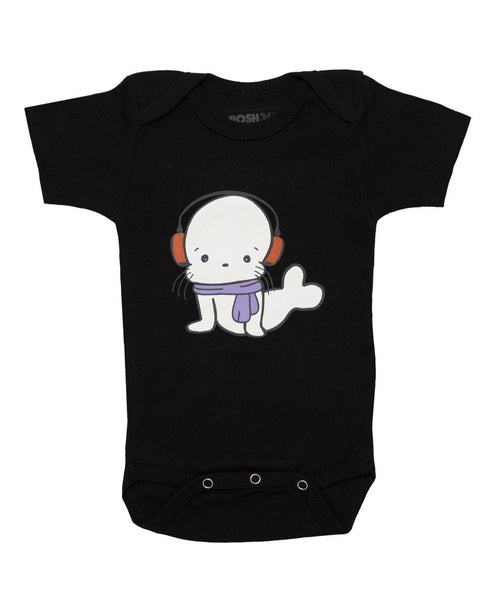 Seal with Headphone Baby Onesie Bodysuit