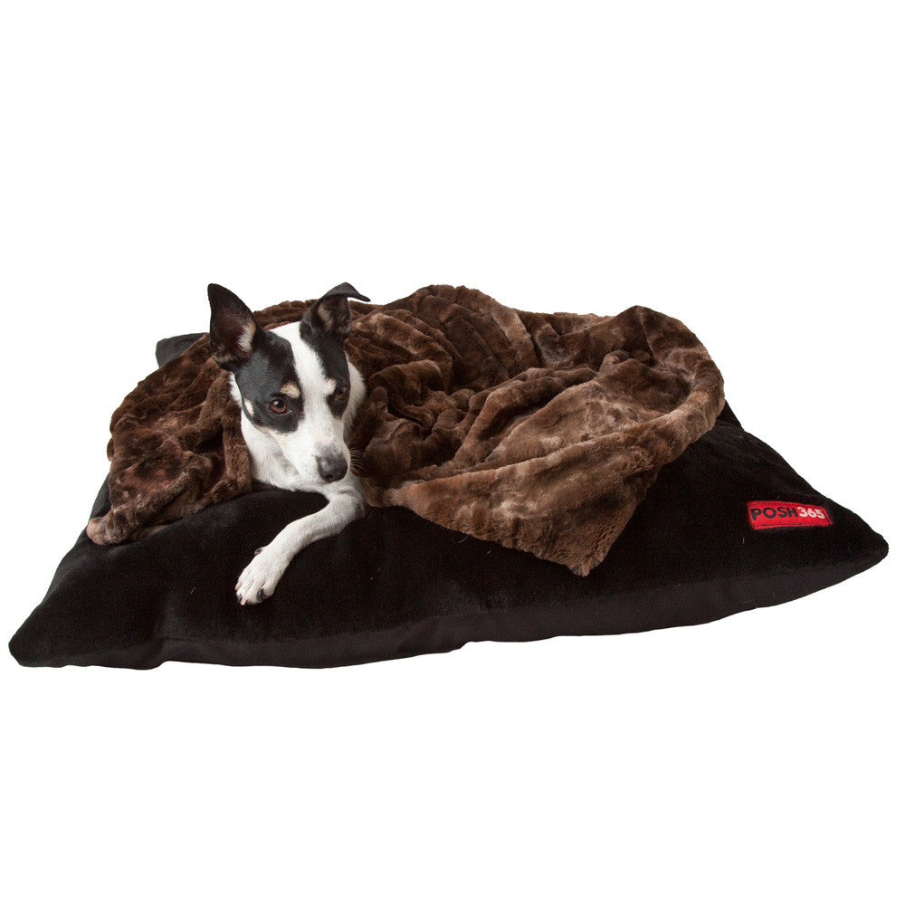 Brown Faux Fur Dog Blanket