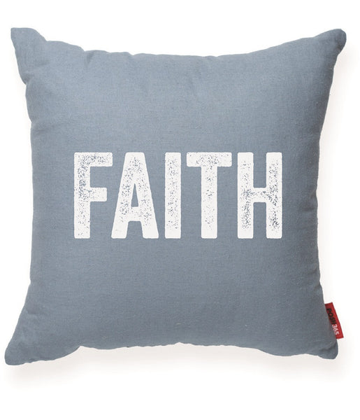 """Faith"" Decorative Throw Pillow"