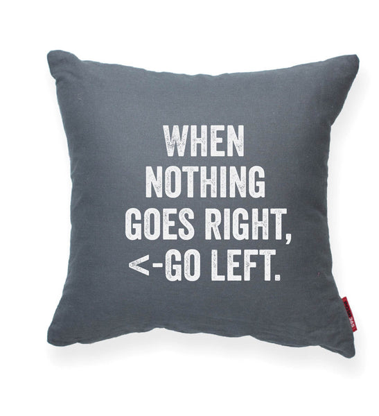 """Go Left"" Decorative Throw Pillow"
