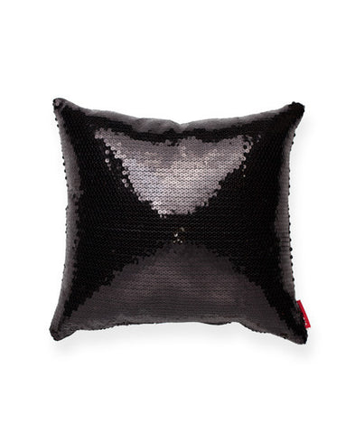 Decorative Black Sequin Decorative Throw Pillow