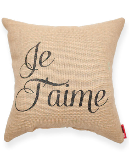 """Je Taime"" Decorative Throw Pillow"