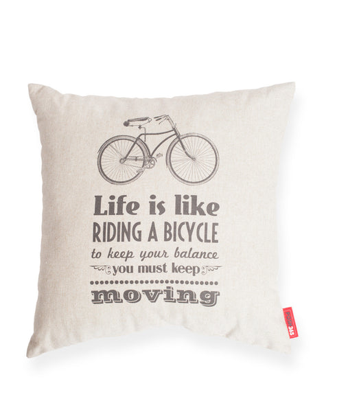 Bicycle Life Decorative Linen Throw Pillow