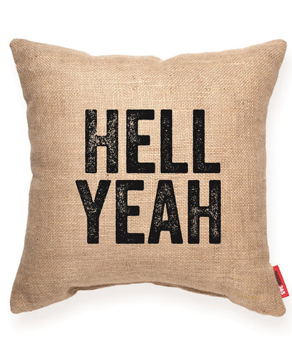 """Hell Yeah"" Decorative Throw Pillow"