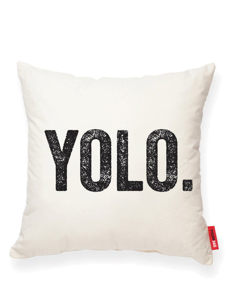 """YOLO"" Decorative Throw Pillow"