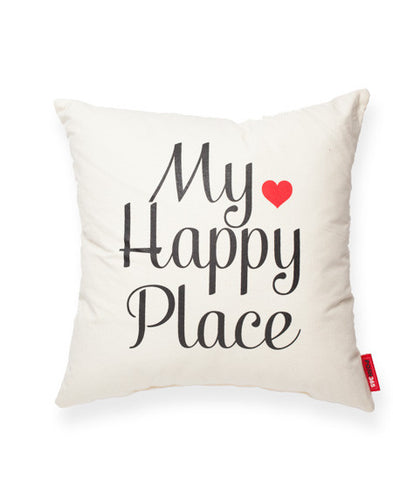 """My Happy Place"" Decorative Throw Pillow"