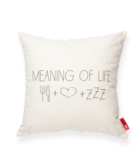 "Decorative Throw Pillow ""Meaning Of Life"""