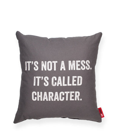 """It's Not A Mess"" Decorative Throw Pillow"