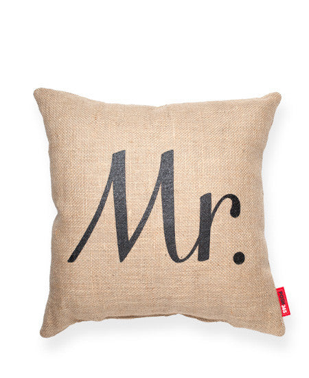 """Mr"" Decorative Throw Pillow"