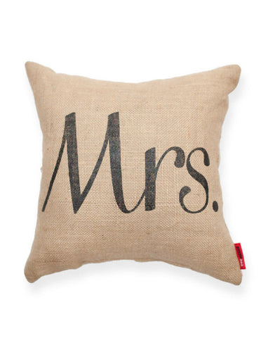 """Mrs"" Decorative Throw Pillow"