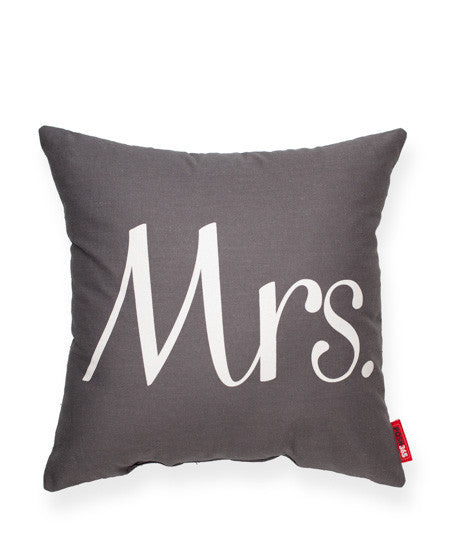 "Decorative Throw Pillow ""Mrs"""