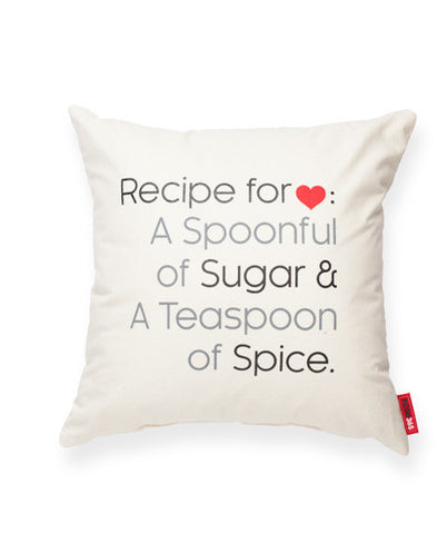 """Recipe For Love"" Decorative Throw Pillow"