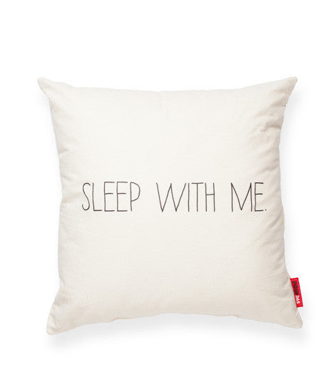 """Sleep With Me"" Decorative Throw Pillow"