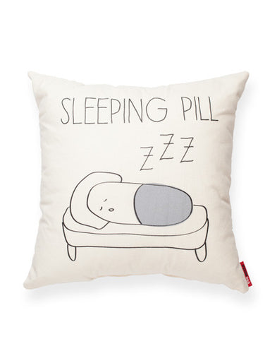 Sleeping Pill Muslin Decorative Throw Pillow
