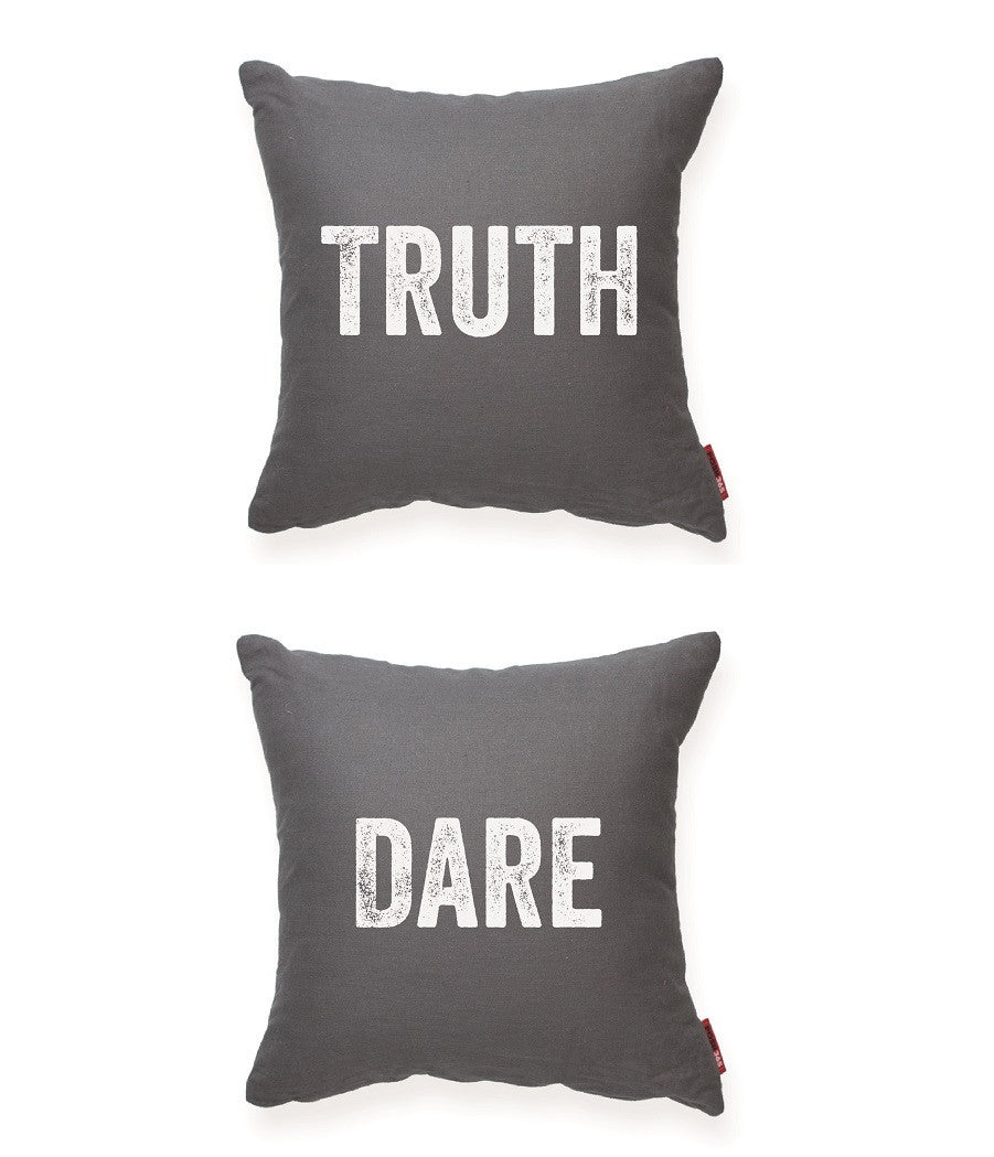 """Truth/Dare"" Decorative Throw Pillow"