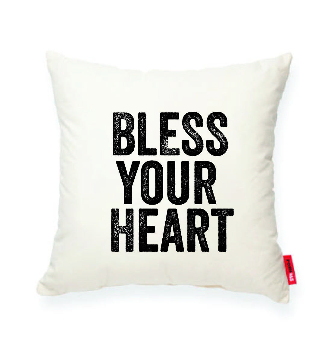 "Decorative Throw Pillow ""Bless Your Heart"""