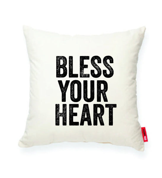 """Bless Your Heart"" Decorative Throw Pillow"
