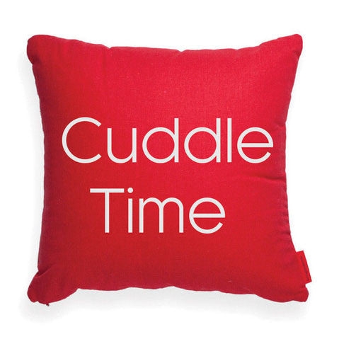 "Decorative Throw Pillow ""Cuddle Time"""