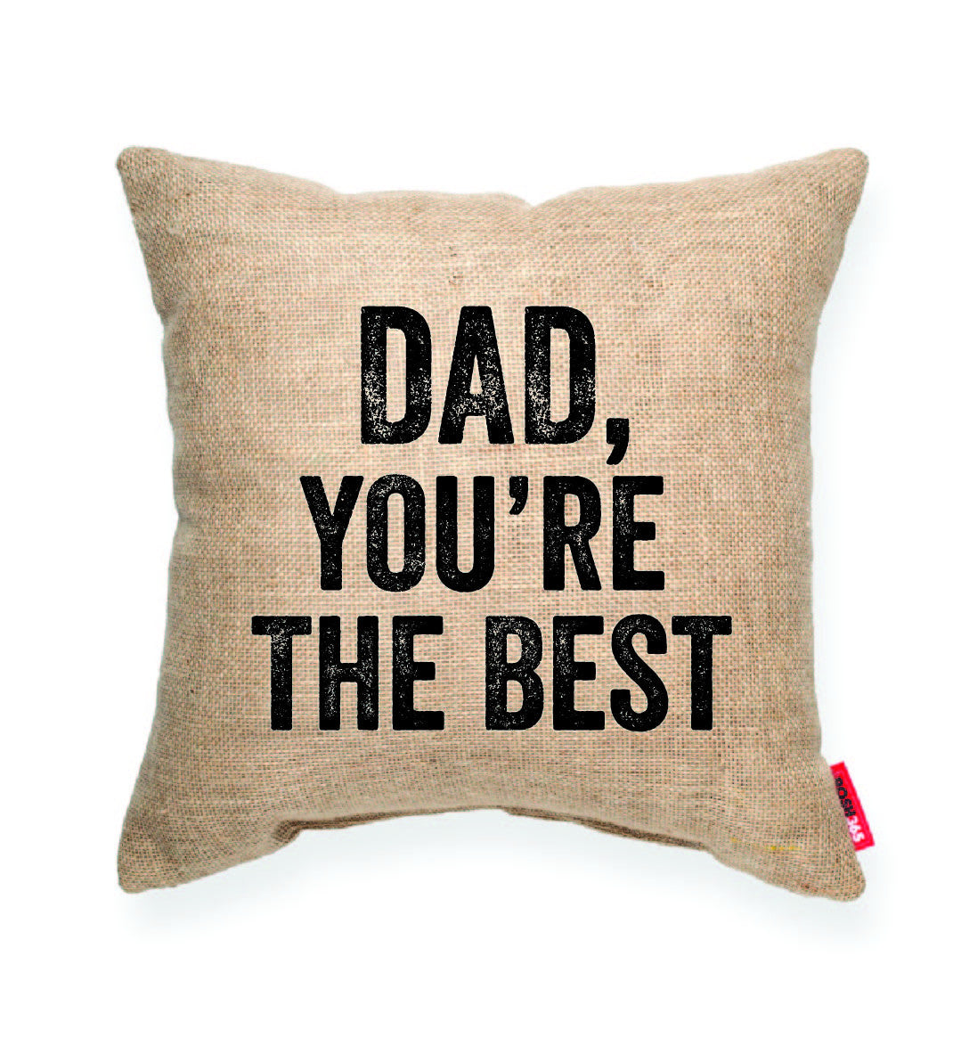 """Dad, You're the Best"" Decorative Throw Pillow"