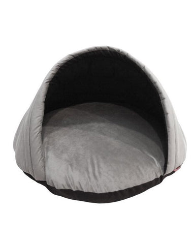 Gray Eskimo Tent Pet Bed