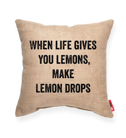 """Lemon Drops"" Decorative Throw Pillow"