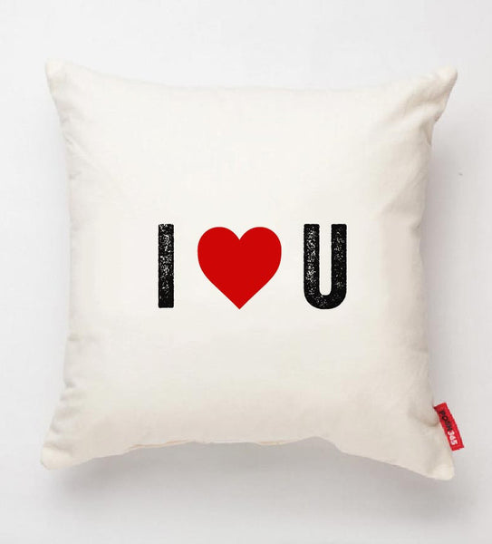 """I Heart U"" Decorative Throw Pillow"