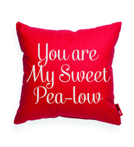 """You Are My Sweet Pea-Low"" Decorative Throw Pillow"