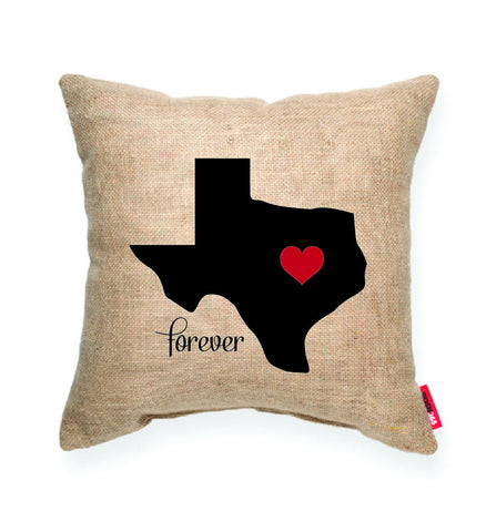 """Heart Texas"" Decorative Throw Pillow"