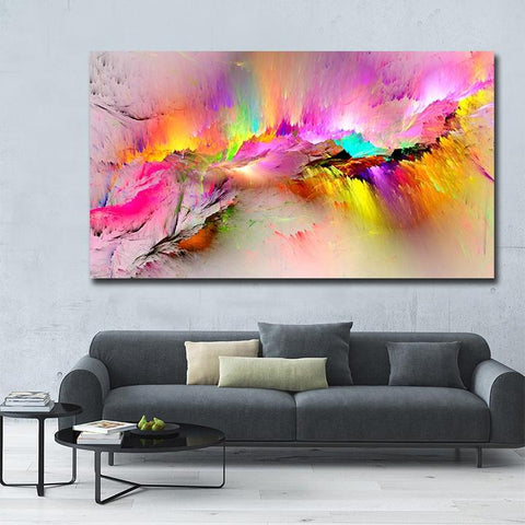 colorful abstract canvas print art wall decor